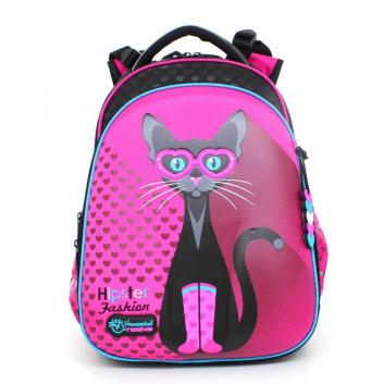 Школа, Рюкзак Модная кошка Hummingbird (малиновый)802526, фото