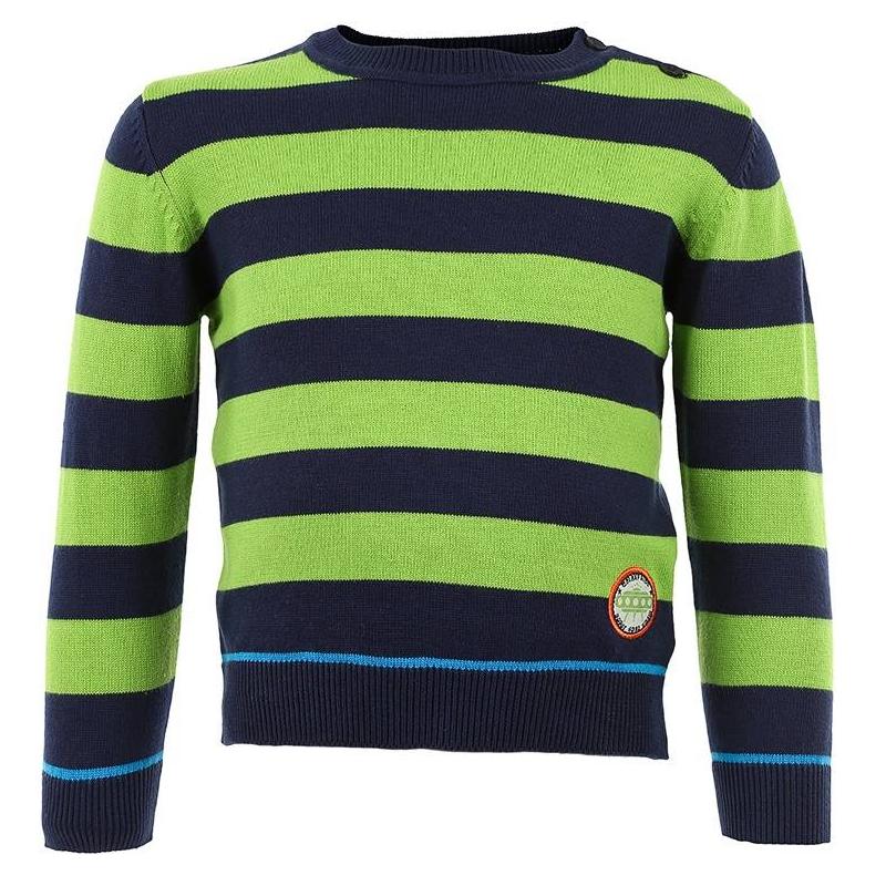 СвитерХлопковый свитер в полоску марки BLUE SEVEN для мальчиков. Свитер из хлопкового трикотажа в темно-синюю и зеленую полоску украшен нашивкой и застегивается на две пуговицы на плече.<br><br>Размер: 6 месяцев<br>Цвет: Зеленый<br>Рост: 68<br>Пол: Для мальчика<br>Артикул: 602738<br>Страна производитель: Бангладеш<br>Сезон: Всесезонный<br>Состав: 100% Хлопок<br>Бренд: Германия<br>Вид застежки: Пуговицы