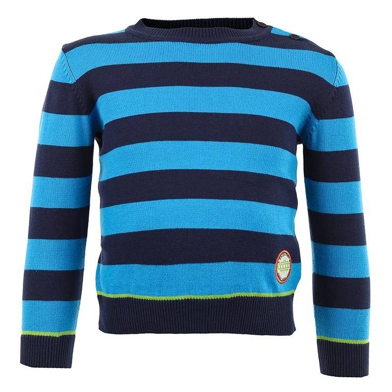 ДжемперХлопковый джемпер в полоску марки BLUE SEVEN для мальчиков. Джемпер из хлопкового трикотажа в темно-синюю и голубую полоскуукрашен нашивкой и застегивается на две пуговицы на плече.<br><br>Размер: 6 месяцев<br>Цвет: Голубой<br>Рост: 68<br>Пол: Для мальчика<br>Артикул: 602733<br>Бренд: Германия<br>Страна производитель: Бангладеш<br>Сезон: Всесезонный<br>Состав: 100% Хлопок<br>Вид застежки: Пуговицы
