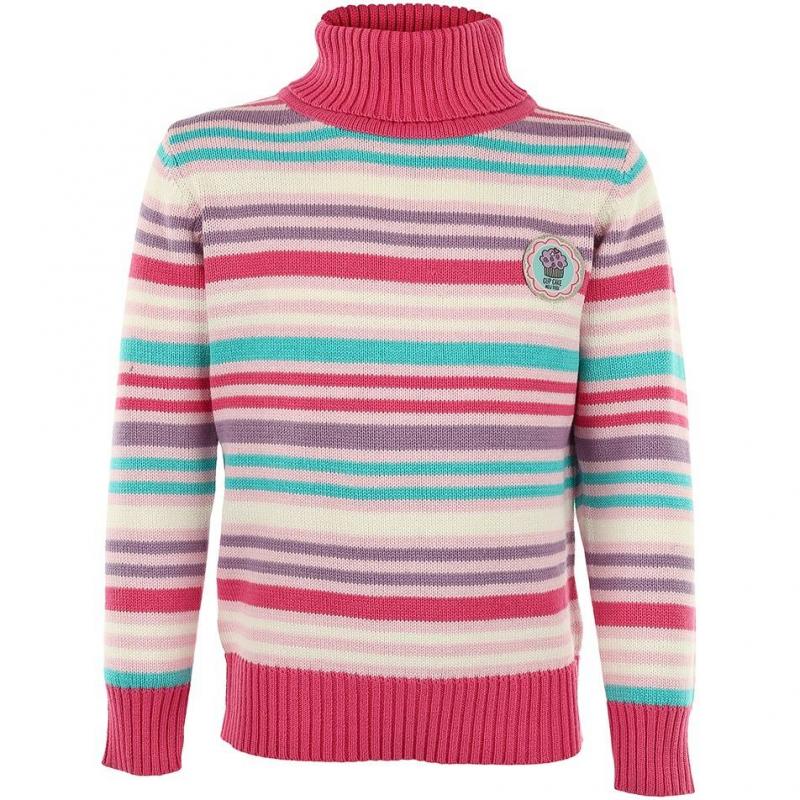 СвитерРозовый свитер в полоску с высоким воротом марки BLUE SEVEN для девочек. Свитер из хлопка с высоким воротником под горло украшен милой нашивкой на груди.<br><br>Размер: 3 года<br>Цвет: Малиновый<br>Рост: 98<br>Пол: Для девочки<br>Артикул: 602272<br>Бренд: Германия<br>Страна производитель: Бангладеш<br>Сезон: Осень/Зима<br>Состав: 100% Хлопок