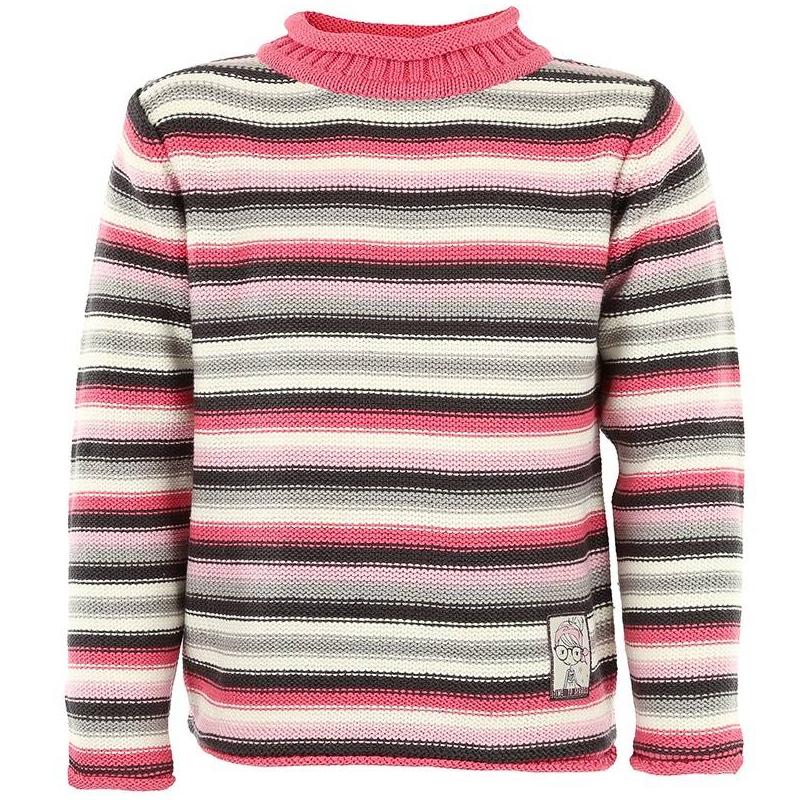 СвитерРозовый свитер в полоску марки BLUE SEVEN для девочек. Свитер с невысоким воротничком выполнен из смешанного трикотажа (хлопок+акрил) крупной вязки с розовыми, серыми и белыми полосками. Украшен милой нашивкой спереди.<br><br>Размер: 3 года<br>Цвет: Розовый<br>Рост: 98<br>Пол: Для девочки<br>Артикул: 602243<br>Бренд: Германия<br>Страна производитель: Бангладеш<br>Сезон: Осень/Зима<br>Состав: 50% Хлопок, 50% Акрил