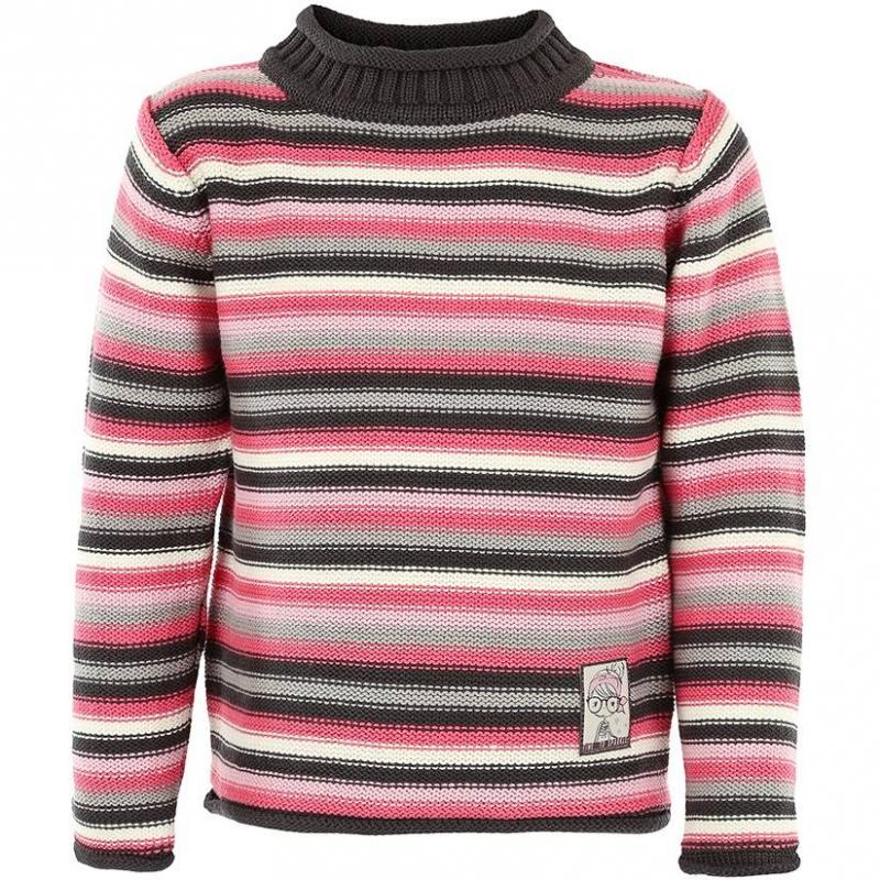 СвитерТемно-серый свитер в полоску марки BLUE SEVEN для девочек. Свитер с невысоким воротничком выполнен из смешанного трикотажа (хлопок+акрил) крупной вязки с розовыми, серыми и белыми полосками. Украшен милой нашивкой спереди.<br><br>Размер: 2 года<br>Цвет: Темносерый<br>Рост: 92<br>Пол: Для девочки<br>Артикул: 602249<br>Бренд: Германия<br>Страна производитель: Бангладеш<br>Сезон: Осень/Зима<br>Состав: 50% Хлопок, 50% Акрил