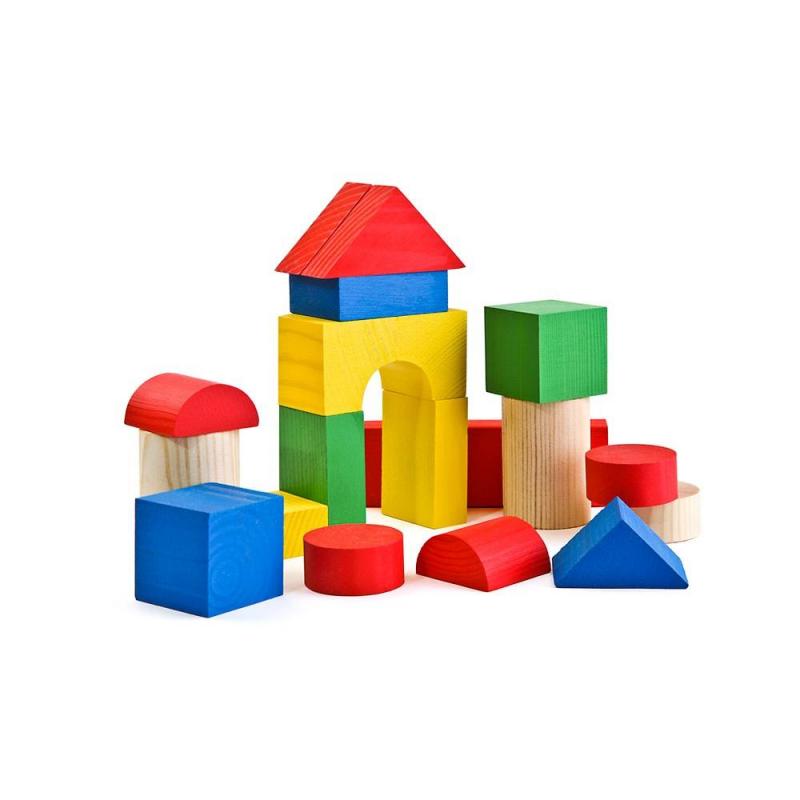 ТОМИК Деревянный конструктор Цветной 26 деталей томик деревянный конструктор цветной 26 деталей