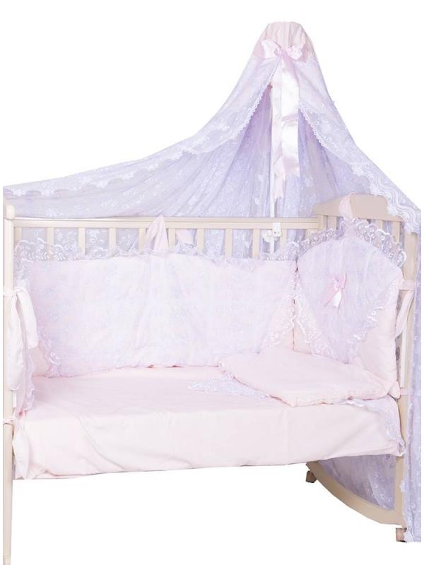 Набор в кроватку Элит Плакса (розовый)