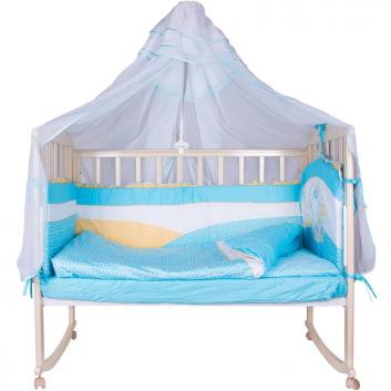 Малыши, Набор в кроватку Ласковая овечка Soni Kids (голубой)711301, фото