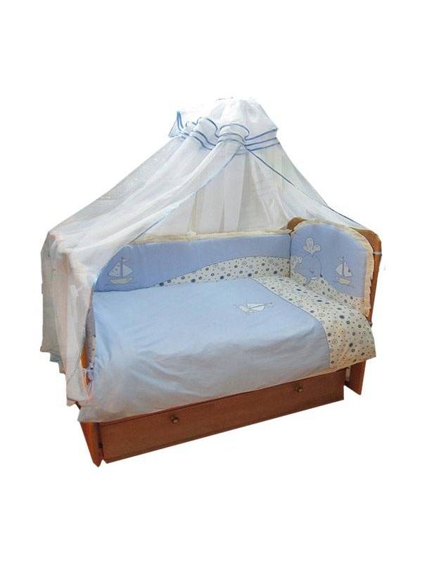 Набор в кроватку Морское путешествие Soni Kids (голубой)