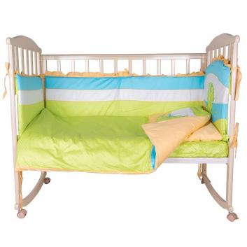 Малыши, Комплект постельного белья 6 предметов Sonia Kids (салатовый)607218, фото