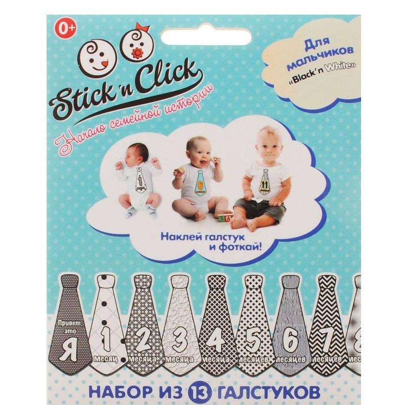 Stick n Click Набор стикеров Black'n White stick n click для девочек наша сладость