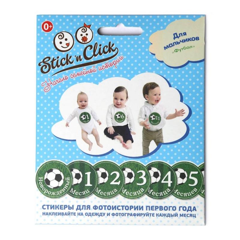 Stick n Click Набор стикеров Футбол stick n click для девочек наша сладость