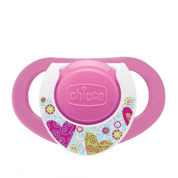 Гигиена, Пустышка силиконовая 2 шт от 12 месяцев Chicco (розовый)800439, фото