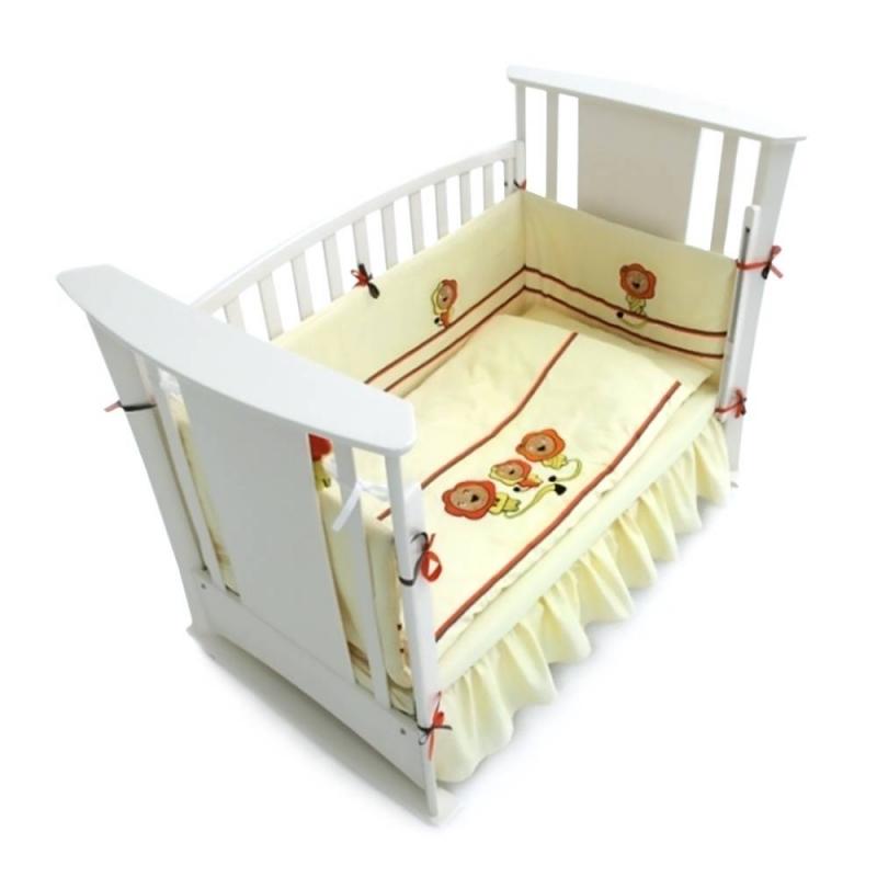 RTC Комплект в кроватку Львиная сиеста Люкс 7 предметов