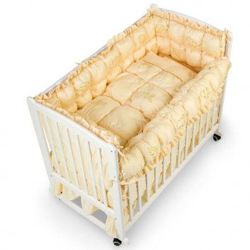 Малыши, Комплект в кроватку Mosaico 9 предметов RTC (золотой)711084, фото