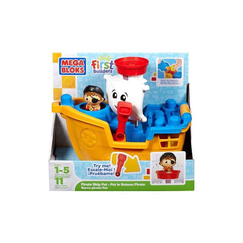 Купить Конструктор Пиратский корабль, MEGA BLOKS, от 12 месяцев до 5 лет, Пластик, Для мальчика, 608161, Китай
