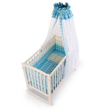 Малыши, Комплект в кроватку Fiore 7 предметов RTC (голубой)711098, фото