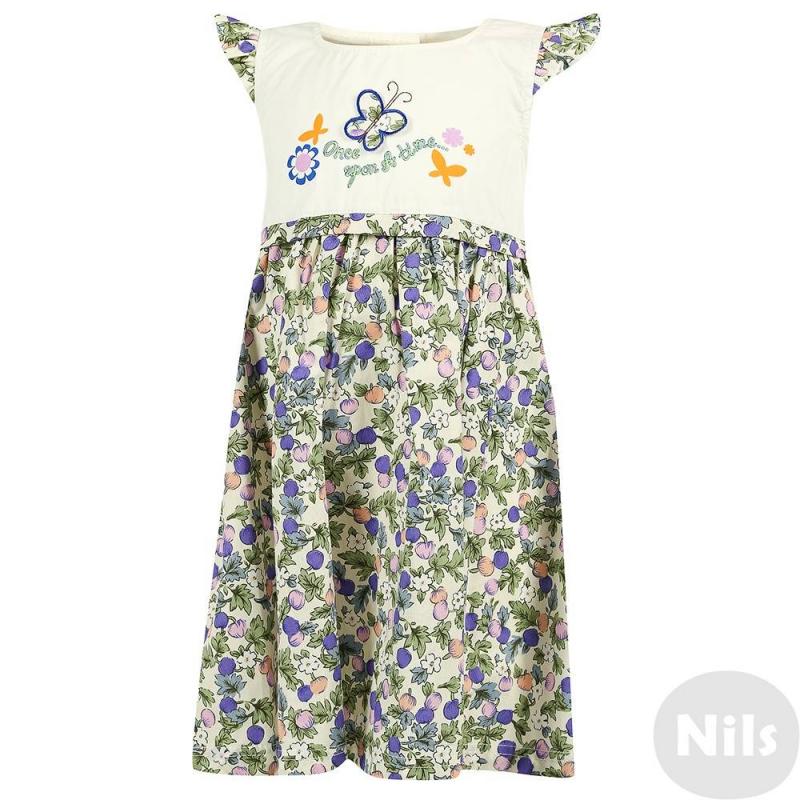 ПлатьеПлатье с коротким рукавом марки LP Collection, цветочный принт сиреневого цвета. Платье выполнено из хлопка, лиф украшен принтом и аппликацией с бабочкой. Пояс завязывается бантом сзади. Платье застегивается на пуговицы на спинке.<br><br>Размер: 4 года<br>Цвет: Сиреневый<br>Рост: 104<br>Пол: Для девочки<br>Артикул: 607403<br>Страна производитель: Таиланд<br>Сезон: Весна/Лето<br>Состав: 100% Хлопок<br>Бренд: Таиланд<br>Вид застежки: Пуговицы