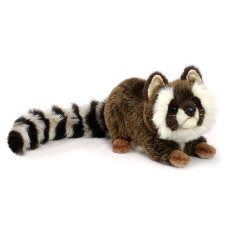 Hansa Мягкая игрушка Енот мягкие игрушки абвгдейка мягкая игрушка рыба крылатка зебра 35 см
