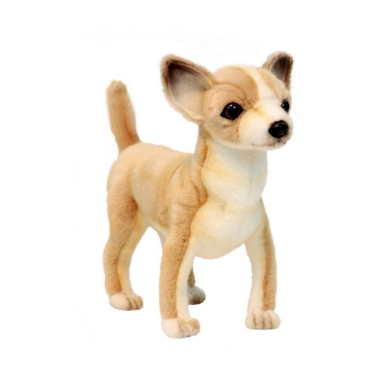 Hansa Мягкая игрушка Чихуахуа мягкая игрушка собака hansa собака породы чихуахуа искусственный мех синтепон коричневый белый 31 см 6501