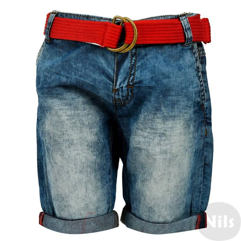 ШортыГолубые шорты с ремнем марки MAYORAL для мальчиков. Шорты с двумя карманами по бокам и двумя задними карманами выполнены из тонкого хлопка, окрашенного под деним. Шорты застегиваются на кнопку. В комплект входит красный плетеный ремень.<br><br>Размер: 8 лет<br>Цвет: Голубой<br>Рост: 128<br>Пол: Для мальчика<br>Артикул: 607639<br>Страна производитель: Бангладеш<br>Сезон: Весна/Лето<br>Состав: 100% Хлопок<br>Бренд: Испания<br>Вид застежки: Кнопки