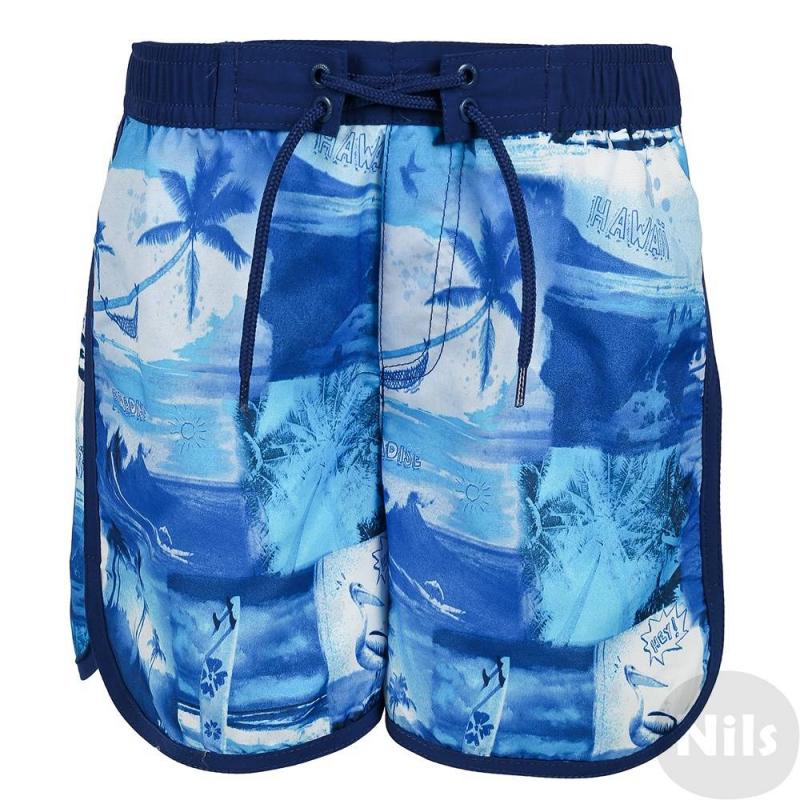 Шорты для купанияСиниешорты для купания марки MAYORAL для мальчиков. Купальные шорты из быстросохнущего материала с подкладкой из сеточки имеют удобный пояс на широкой резинке с завязками. Шорты украшены стильным летним принтом с пальмами.<br><br>Размер: 8 лет<br>Цвет: Синий<br>Рост: 128<br>Пол: Для мальчика<br>Артикул: 607666<br>Страна производитель: Китай<br>Сезон: Весна/Лето<br>Состав: 100% Полиэстер<br>Бренд: Испания