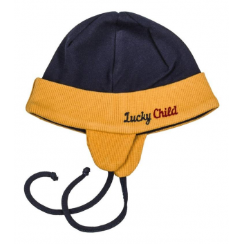 Малыши, Шапочка Lucky Child (темносиний)408040, фото
