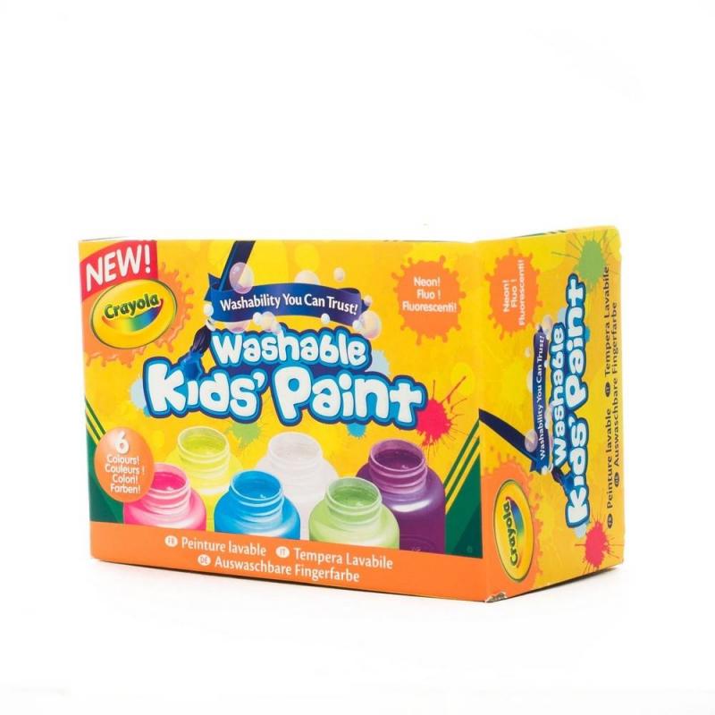 Неоновые краски 6 цветовНеоновые краски 6 цветов от бренда Crayola прекрасны для рисования. Они станут любимым развлечением Вашего ребенка благодаря способности светиться в темноте! Малыш сможет нарисовать картинку, используя все шесть цветов флуоресцентной акварели, и будет в восторге от того, как изменится шедевр в темноте. Акварель безопасна и Вы без труда смоете ее с любых поверхностей.<br>Размер коробочки:6,5х13,4х8,9 см.<br>В наборе шесть цветов по 59 мл:<br>- красный,<br>- оранжевый,<br>- желтый,<br>- зеленый,<br>- синий,<br>- фиолетовый .<br>Станет прекрасным подарком любому ребенку!<br><br>Возраст от: 3 года<br>Пол: Унисекс<br>Артикул: 608195<br>Бренд: США<br>Страна производитель: Китай<br>Размер: от 3 лет