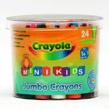 Восковые мелки для малышей 24 шт
