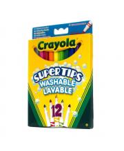 12 тонких фломастеров Супертипс  Crayola