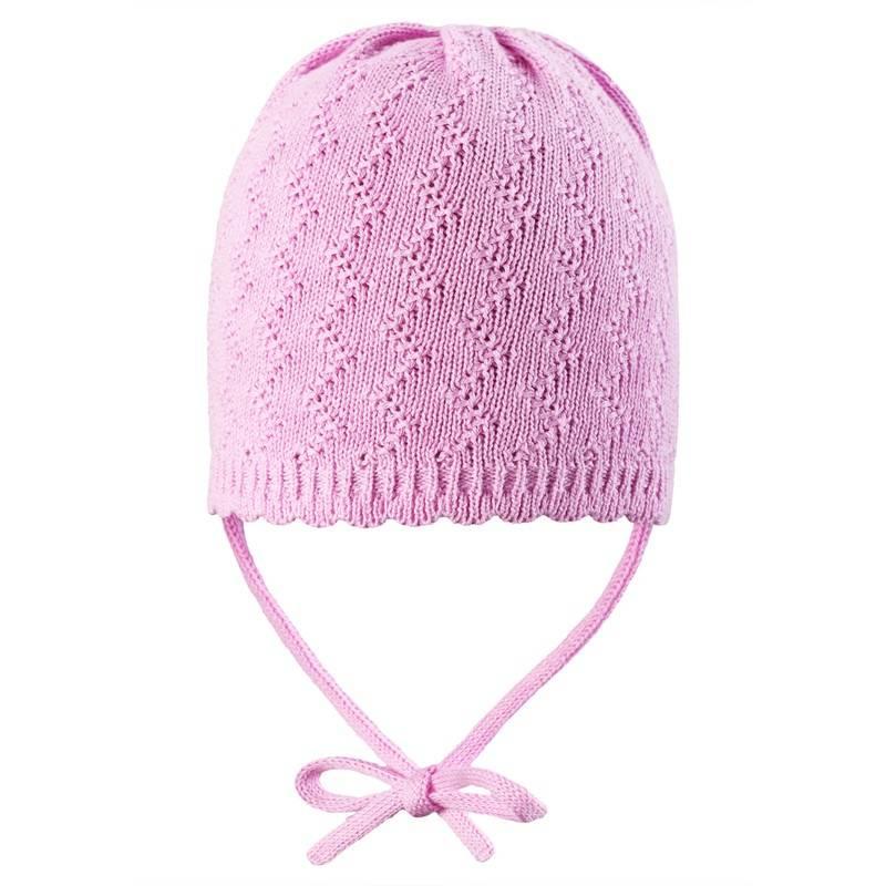 ШапкаЛегкая ажурная вязаная шапочка нежного розового цвета для девочек марки Reima. Шапочка связана из хлопковой пряжи.Для весенних и летних прогулок, без подкладки.<br><br>Размер: 6 лет<br>Цвет: Розовый<br>Размер: 52<br>Пол: Для девочки<br>Артикул: 608807<br>Страна производитель: Шри-Ланка<br>Сезон: Весна/Лето<br>Состав верха: 100% Хлопок<br>Бренд: Финляндия