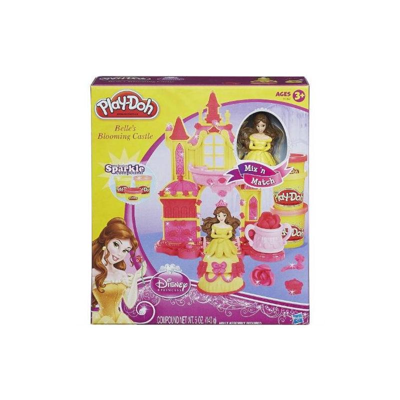 Игровой набор Замок БелльИгровой набор с детским пластилином Замок Белль от Play-Doh станетинтереснейшим творческим занятием для Вашей принцессы. Ваша девочка сможет самостоятельно создавать вечерние платья с аксессуарами для Белль, украсит замок узорами и розами и сможет полностью погрузиться в мир сказки, показанной в мультфильме Disney.<br>В составе пластилина только безопасные даже для малышей ингридиенты: натуральные пищевые ароматизаторы и красители, пшеница. Пластилин очень мягкий для детских ручек и не ломается. Долго хранится в закрытых баночках, но если Вы забыли закрыть крышки и он подсох - просто смочите его водой и можно продолжать развивающие мелкую моторику игры.<br>В комплекте Вы найдете:<br>- замок,<br>- фигурку принцессы,<br>- формы для создания платьев,<br>- экструдер для создания кустов роз,<br>- 2 баночки с пластилином Play-Doh,<br>- 1 маленькую баночку с пластилином Play-Doh.<br>Игровой набор Hasbro Замок Белльот брендаPlay-Doh станет прекрасным подарком для любой любительницы принцесс и сказок!<br><br>Размер: от 3 до 6 лет<br>Пол: Для девочки<br>Артикул: 608183<br>Страна производитель: Китай<br>Бренд: США<br>Лицензия: Disney