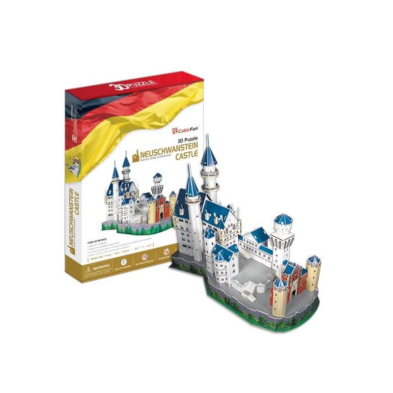 Купить 3D пазл Замок Нойшванштайн 98 деталей, CubicFun, от 7 лет, Не указан, 407433, Китай