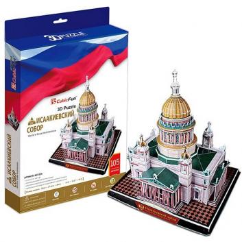 Игрушки, 3D пазл Исаакиевский собор 105 деталей CubicFun 407445, фото