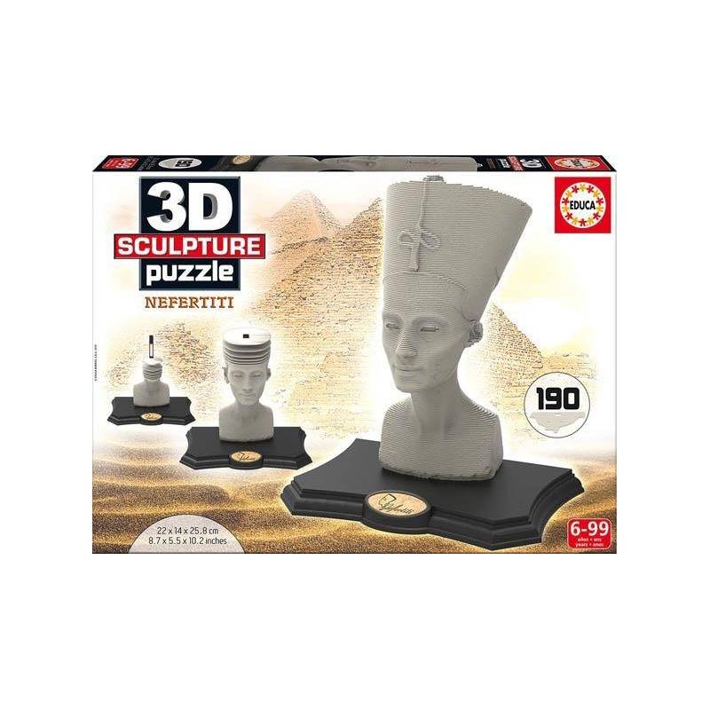 Educa 3D пазл Нефертити 190 деталей пазл для раскрашивания арт терапия царь зверей origami 360 деталей