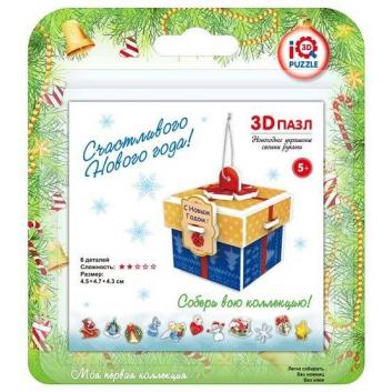 Игрушки, 3D-пазл Подарок 6 деталей IQ Puzzle 667414, фото