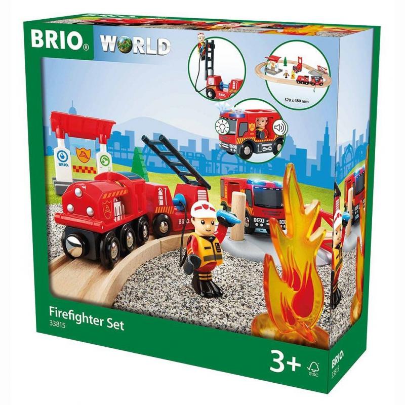 BRIO Игровой набор Пожарная станция машины veld co игровой набор паркинг пожарная станция