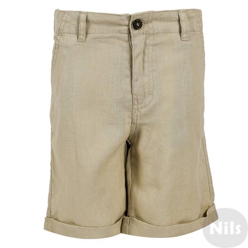 ШортыЛьняные шорты бежевого цвета марки WOOLOO MOOLOOдля мальчиков. Легкие летние шорты с отворотами и карманами застегиваются на молнию и пуговицу. Пояс на резинке регулируется специальными пуговицами на внутренней стороне.<br><br>Размер: 6 лет<br>Цвет: Бежевый<br>Рост: 116<br>Пол: Для мальчика<br>Артикул: 606972<br>Бренд: Испания<br>Страна производитель: Китай<br>Сезон: Весна/Лето<br>Состав: 100% Лен