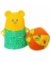 Игрушка-рукавичка Мишка с мячиком