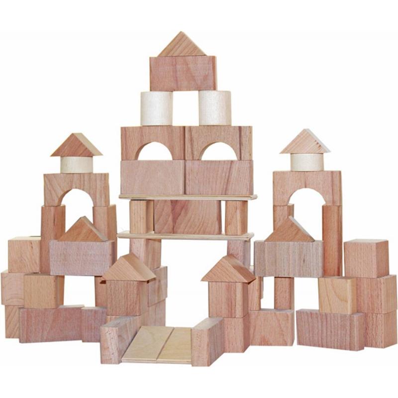 Краснокамская игрушка Деревянный конструктор Строим сами неокрашенный