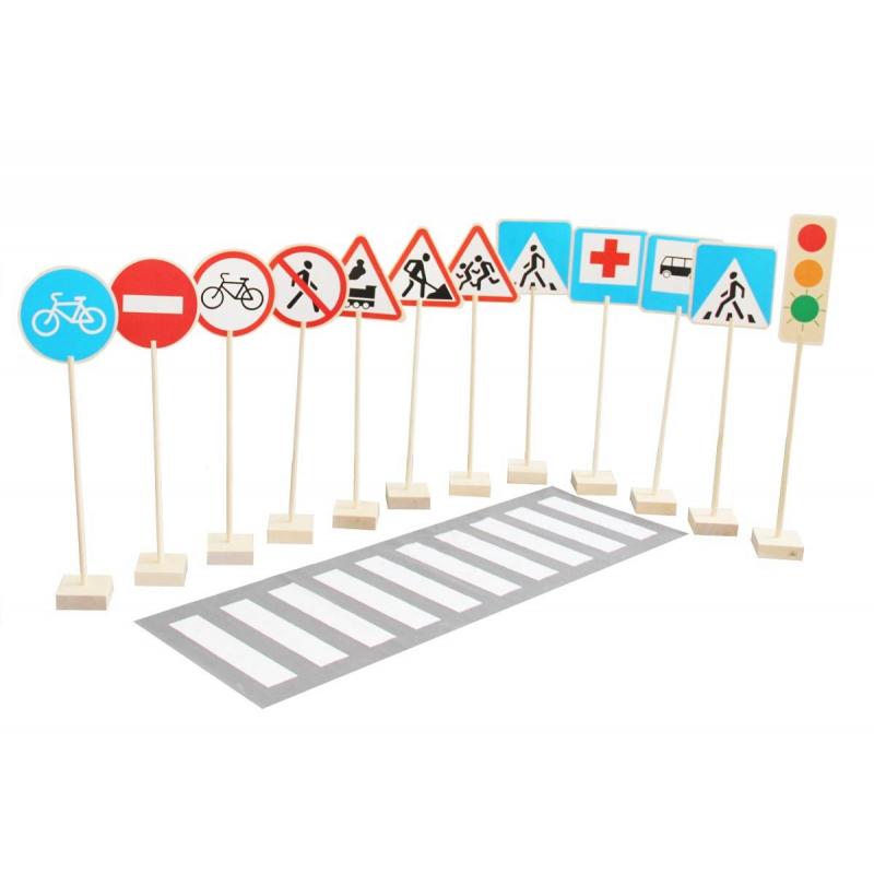 Краснокамская игрушка Игровой набор Знаки дорожного движения фигурки игрушки лэм дорожные знаки