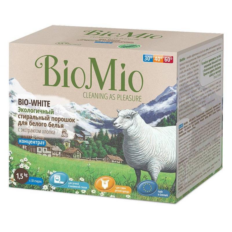 BioMio Стиральный порошок для белого белья Bio-White 1,5 кг