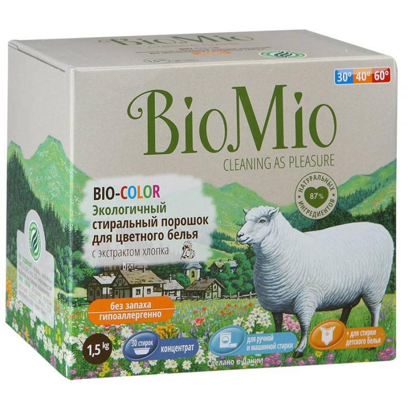 BioMio Стиральный порошок для цветного белья Bio-Color 1,5 кг