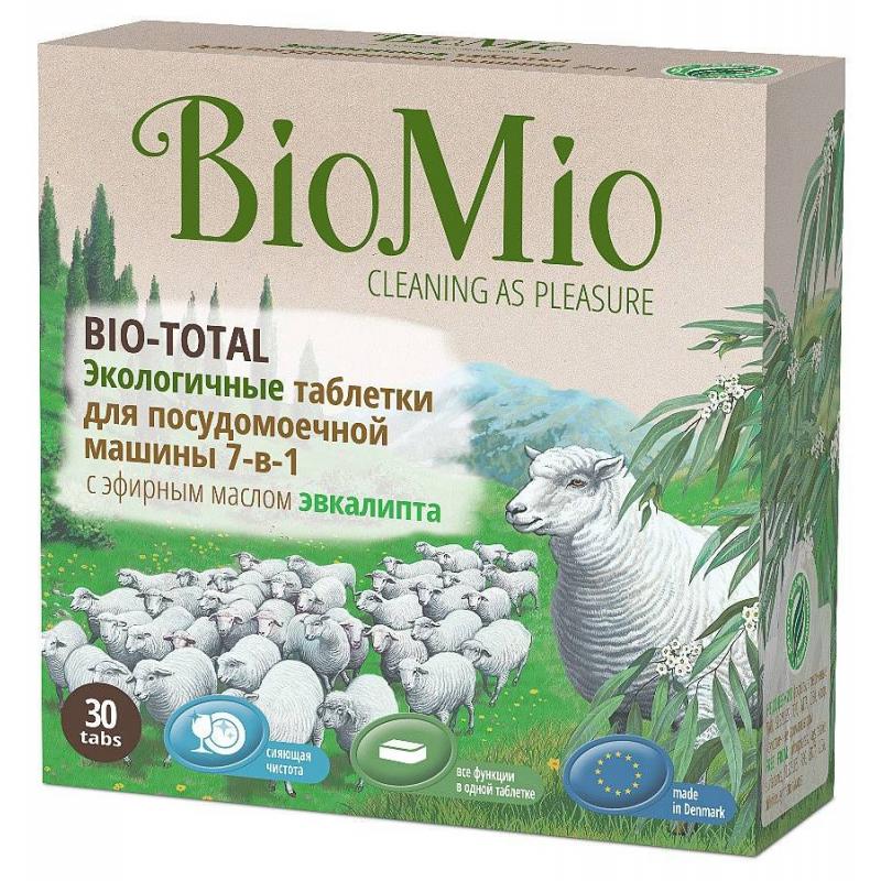 BioMio Таблетки для посудомоечной машины Bio-Total 30 шт брелок для машины рено