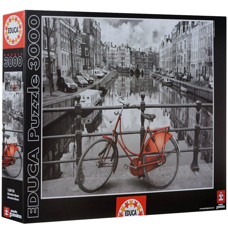 Educa Пазл Амстердам 3000 деталей пазлы educa пазл амстердам 3000 элементов