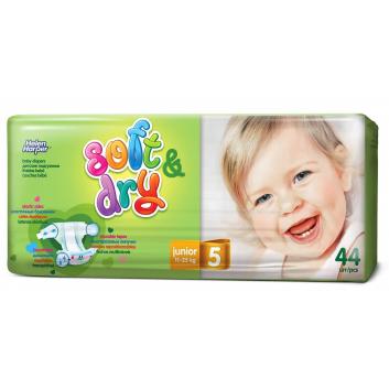 Гигиена, Подгузники Soft & Dry junior 11-25 кг 44 шт Helen Harper 415222, фото