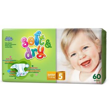 Гигиена, Подгузники Soft & Dry junior 11-25 кг 60 шт Helen Harper 415223, фото