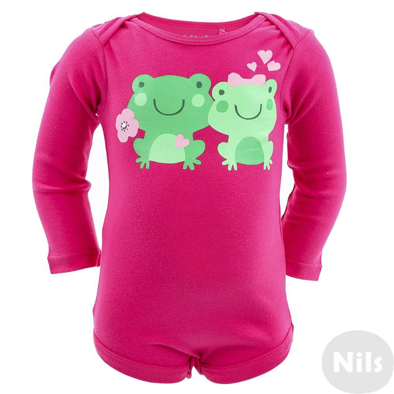 БодиБоди для девочки марки 5.10.15. розового цвета с длинным рукавом. Боди выполнено из мягкого хлопка, спередиукрашено принтом с лягушками. Боди застегиваются на кнопки снизу, специальный крой плечиков облегчает переодевание.<br><br>Размер: 18 месяцев<br>Цвет: Розовый<br>Рост: 86<br>Пол: Для девочки<br>Артикул: 610014<br>Страна производитель: Китай<br>Сезон: Всесезонный<br>Состав: 100% Хлопок<br>Бренд: Польша